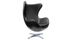 Кресло «EGG CHAIR» чёрный/глянец