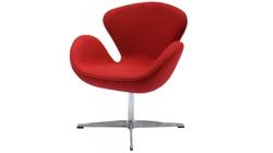 Кресло «SWAN CHAIR» красный